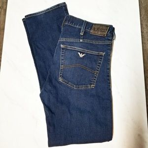 Men's Armani jeans J31 31x32 dark wash denim EUC